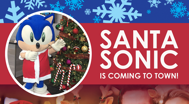 Santa Sonic is Coming to a GameTime Near You