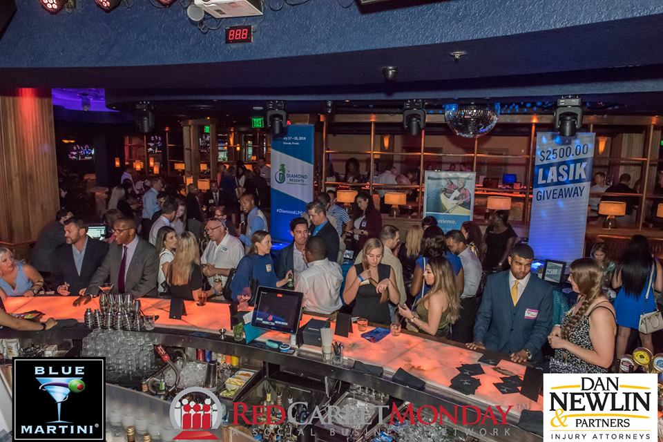 Blue Martini Pointe Orlando Provides Bold Backdrop For Red Carpet Monday Networking Event