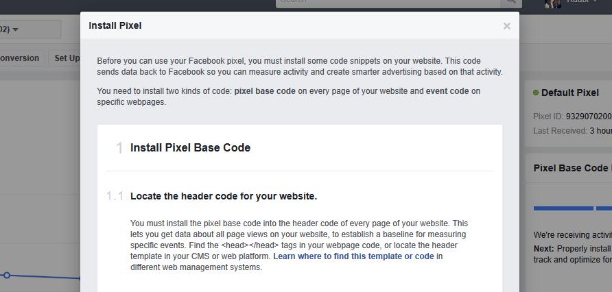 Business Website Facebook Pixel