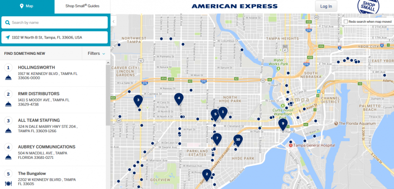 Small Business Saturday Map