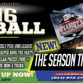 Sunday Football Fans Get Your Peabody's All Access Season Ticket Now