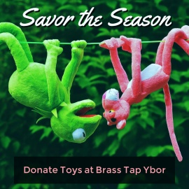 Savor the Season | Ugly Sweaters and Toys for Tots at Brass Tap Ybor