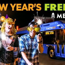 Arrive Alive with Capital Metro's New Year's FREEve Service