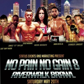 Touch Vodka Sponsors No Pain No Gain Riverwalk Brawl in Tampa this Saturday