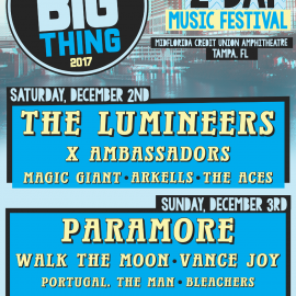 Tampa Bay's Largest Year-End Music Festival, 97X's Next Big Thing, Returns This Weekend