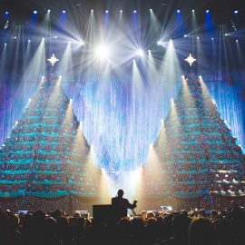 Celebrate the holidays at Orlando's Singing Christmas Trees