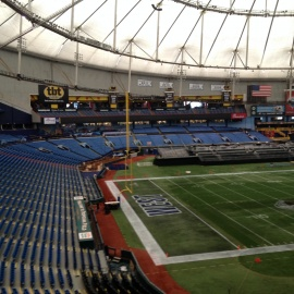 East-West Shrine Game at Tropicana Field Lets College Football Players Shine For NFL Scouts