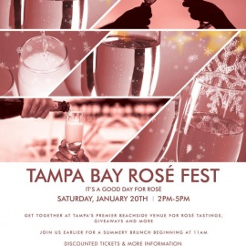 Attention Wine Lovers: Tampa Bay Rose Fest is January 20th at Beach Bar and Restaurant