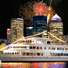 Set Sail On The Yacht Starship For Tampa Bay's Largest Gasparilla Fireworks Display Dinner Cruise