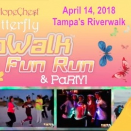 My Hope Chest Hosting Nighttime Butterfly GloWalk and 5K Fun Run Saturday, April 14