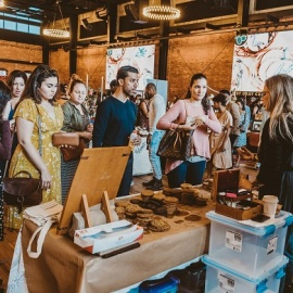 Shop the Monthly Indie Flea Market at Armature Works in Tampa for Unique Gifts