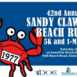 Siesta Beach Park Hosts the Sandy Claws Beach Run | Holiday Spirit Begins Early for Runners