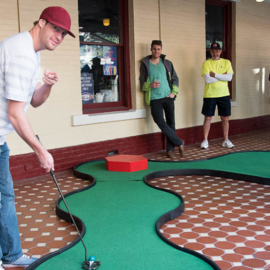 Putts & Pours |  Putt Through Downtown Orlando For Prizes, Drinks, & Bragging Rights