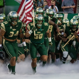 USF Bulls Football Comes Charging in with Horns Up Rallies