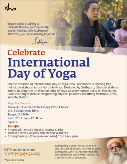 Celebrate International Day of Yoga: Isha Foundation