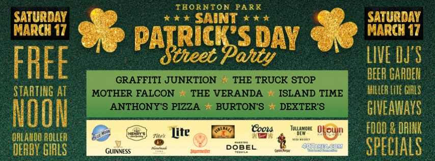 St Patricks Day Street Party in Thornton Park