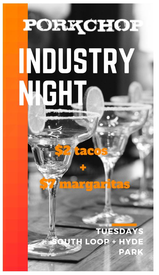 Industry Night at Porkchop in Hyde Park Every Tuesday