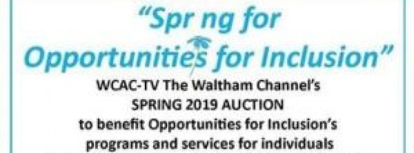 'Spring for Opportunities for Inclusion!' Live TV Auction Fundraiser