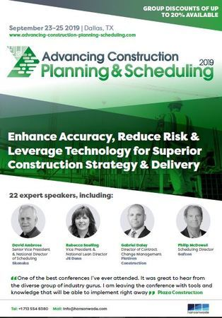 Advancing Construction Planning and Scheduling 2019