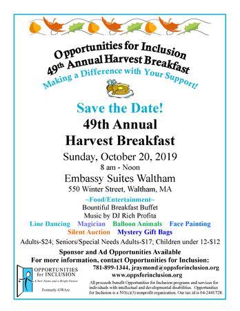 49th Annual Harvest Breakfast