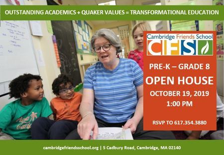 Cambridge Friends School Open House