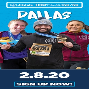 2020 Allstate Hot Chocolate 15k/5k Dallas