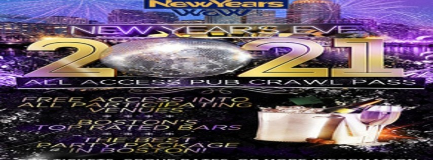 New Year's Eve All Access Bar Crawl Pass Boston, Faneuil Hall And Fenway 2021, Boston MA - Dec ...