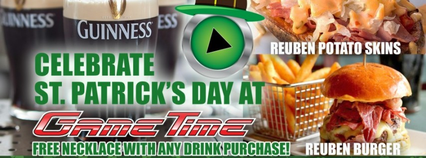 Celebrate St. Patrick's Day at GameTime!