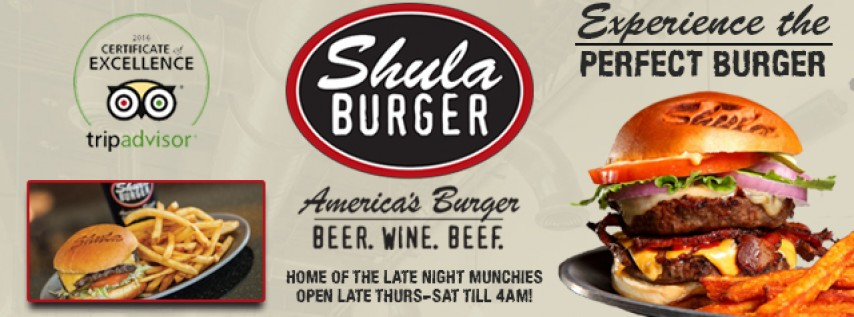 $5 Perfect Burgers at Shula Burger