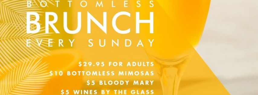 Bottomless Brunch Every Sunday at Beach Bar