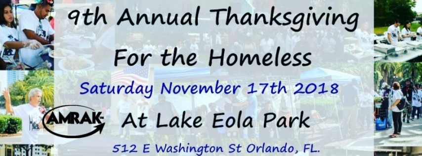 9th Annual Thanksgiving for the Homeless With Amrak Anti Bullying