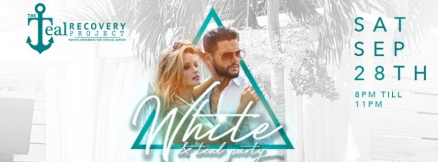 White & Teal Party
