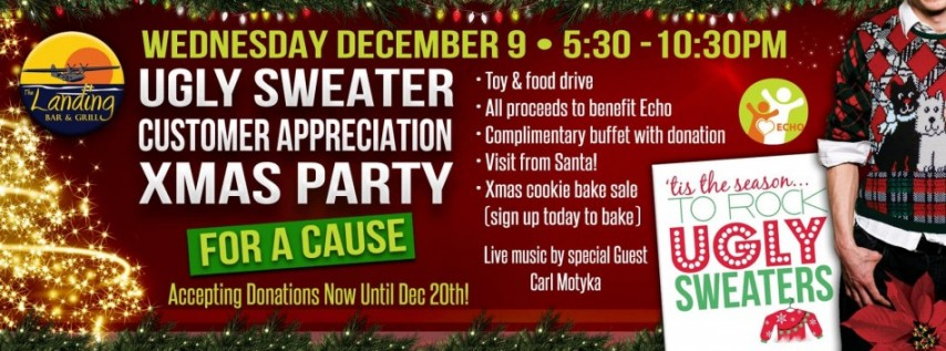Ugly Sweater Customer Appreciation Party for A Cause at The Landing