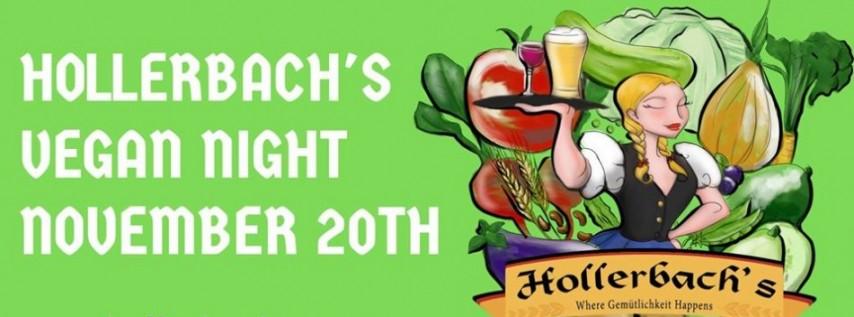 Vegan Night 2.0 at Hollerbach's German Restaurant