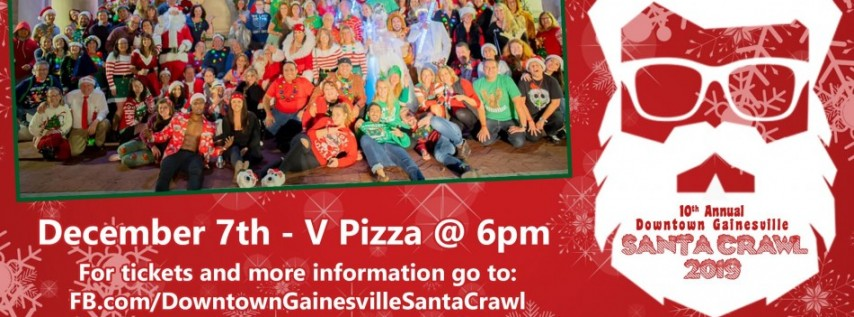 10th Annual Downtown Gainesville Santa Crawl