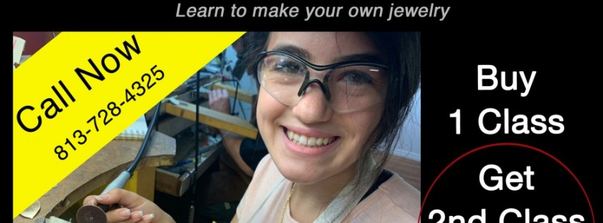 Jewelry Making Classes, Learn Silversmithing this Summer, Buy 1 class, Get 2nd class half off