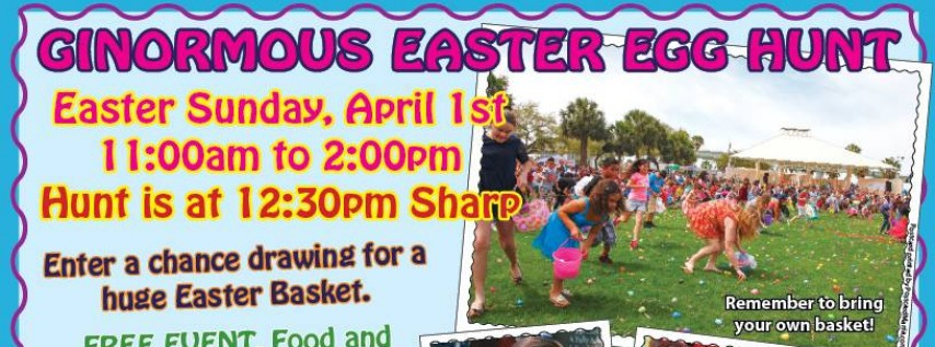 26th Anniversary of the Ginormous Easter Egg Hunt!
