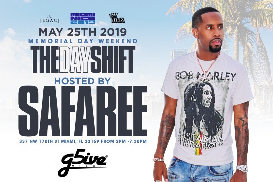 SAFAREE hosts THE DAY SHIFT Miami Memorial Day Weekend 2019 Day Party
