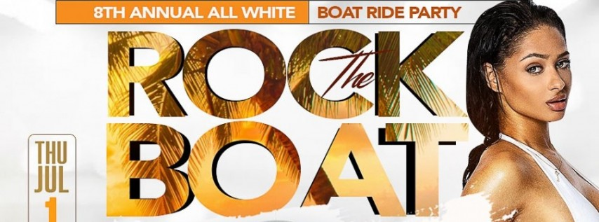 ROCK THE BOAT 2021 THE 8th ANNUAL ALL WHITE BOAT RIDE PARTY DURING NEW ORLEANS E