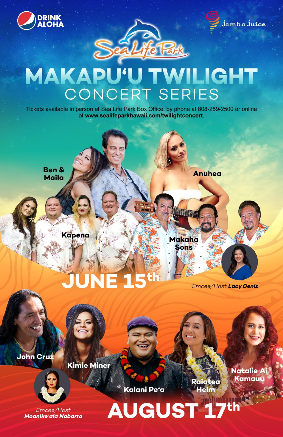 SEA LIFE PARK SETS THE STAGE FOR MAKAPU`U TWILIGHT CONCERT SERIES 2019