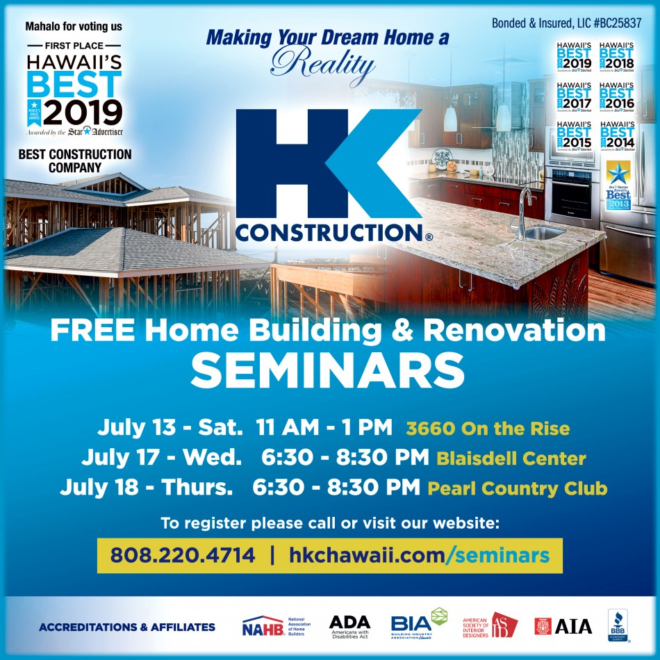 HK Construction Holds Free Design Build Seminars