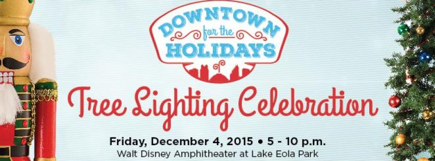 tree lighting celebration lake eola park orlando fl