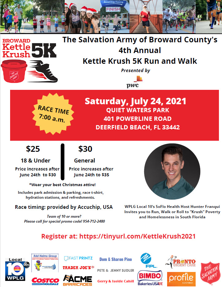 The Salvation Army of Broward County's Kettle Krush 5K