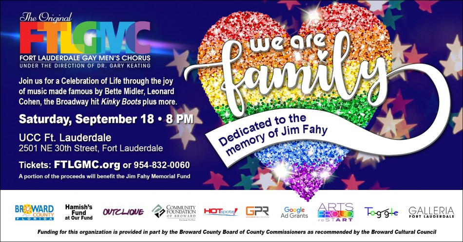 Fort Lauderdale Gay Men's Chorus Presents 'We Are Family'