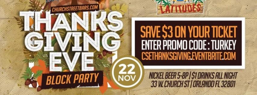Church St. Bars Thanksgiving Eve Block Party