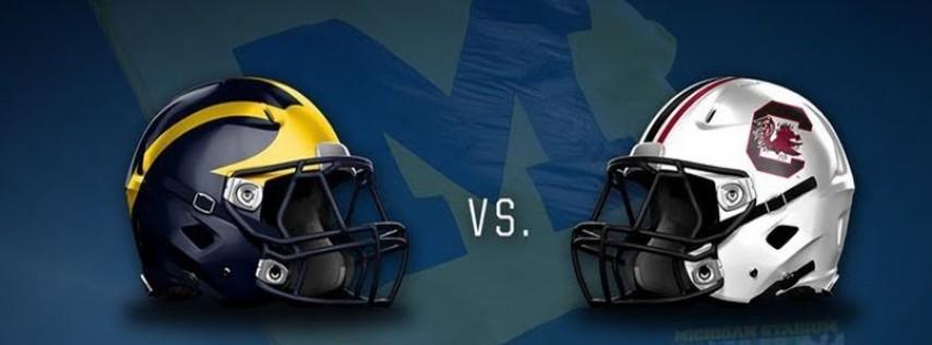 Football Game Watch: Outback Bowl - Michigan vs. South Carolina