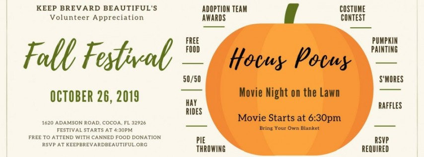 Fall Festival & Hocus Pocus Movie Night on the Lawn