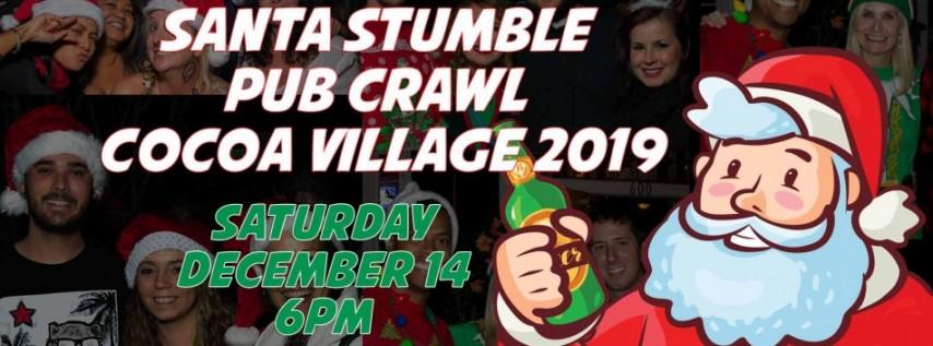 Santa Stumble Pub Crawl Cocoa Village 2019