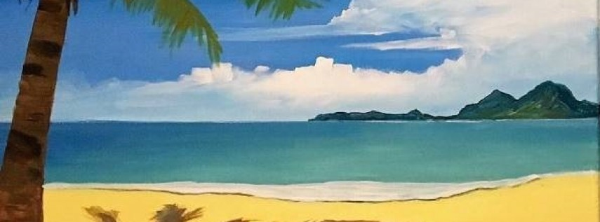 Wine & Canvas Painting Class: Paradise - Left Panel Only