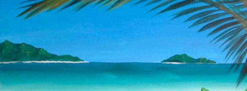 Wine & Canvas Painting Class: Hawaiian Tropics